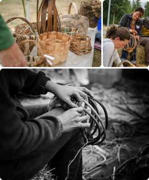Basket-weaving - photo by Adam Nash